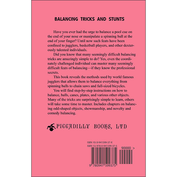 Balancing Tricks and Stunts Back Cover