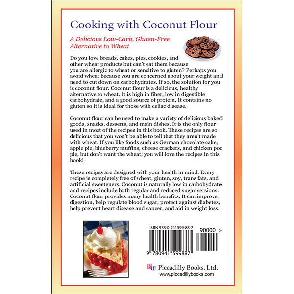 Cooking With Coconut Flour Back Cover