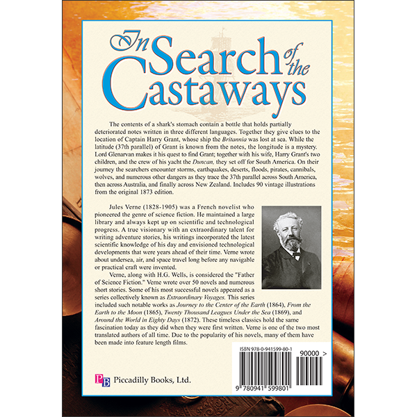 In Search of the Castaways Back Cover