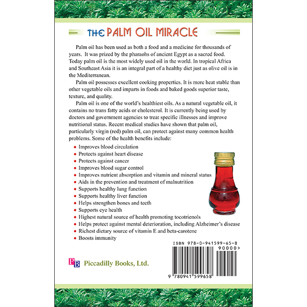 Palm Oil Miracle Back Cover