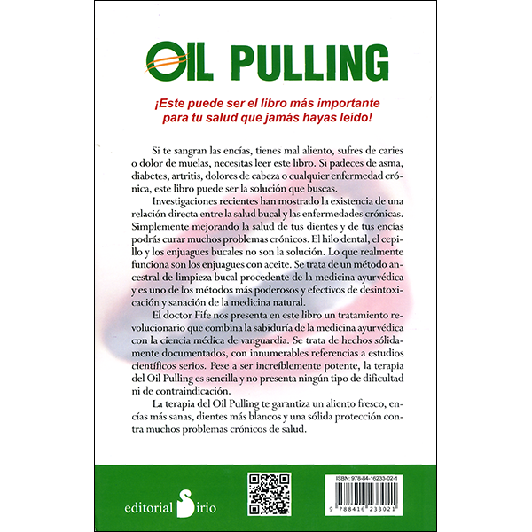 Oil Pulling Spanish Back Cover