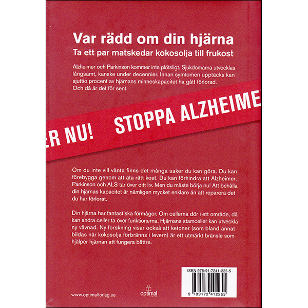 Stop Alzheimers Now Swedish back cover