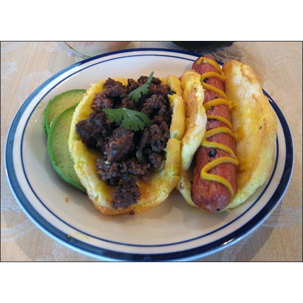 keto bread and hot dog