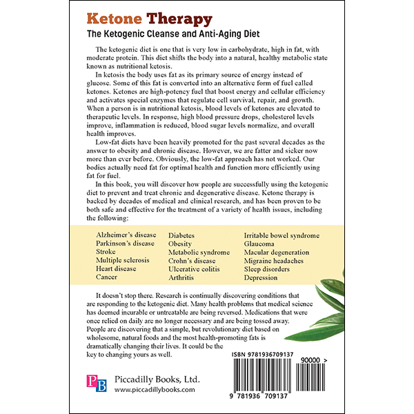 Ketone Therapy back cover