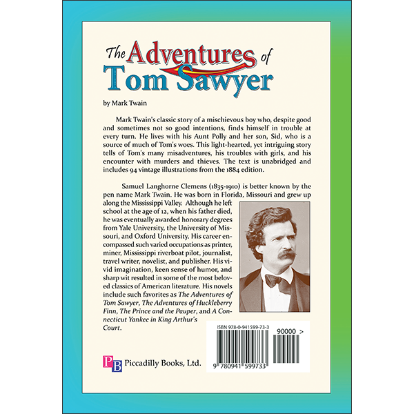 Adventures of Tom Sawyer Back Cover