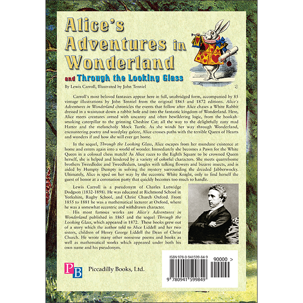 Alice In Wonderland Back Cover