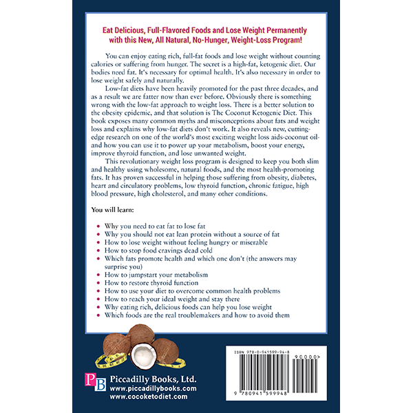 Coconut Ketogenic Diet Back Cover