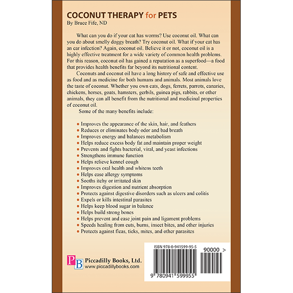 Coconut Therapy for Pets Back Cover