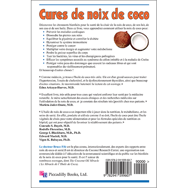Cures de Noix de Coco Back Cover