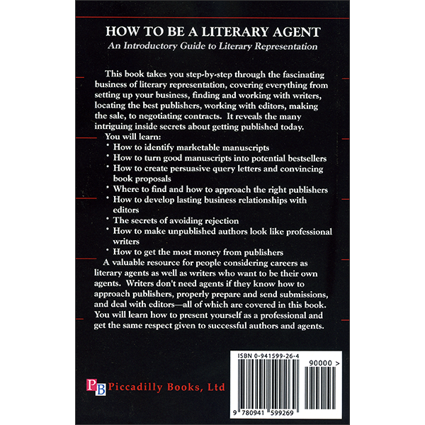 How To Be A Literary Agent Back Cover