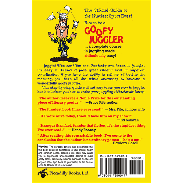 How to Be A Goofy Juggler Back Cover
