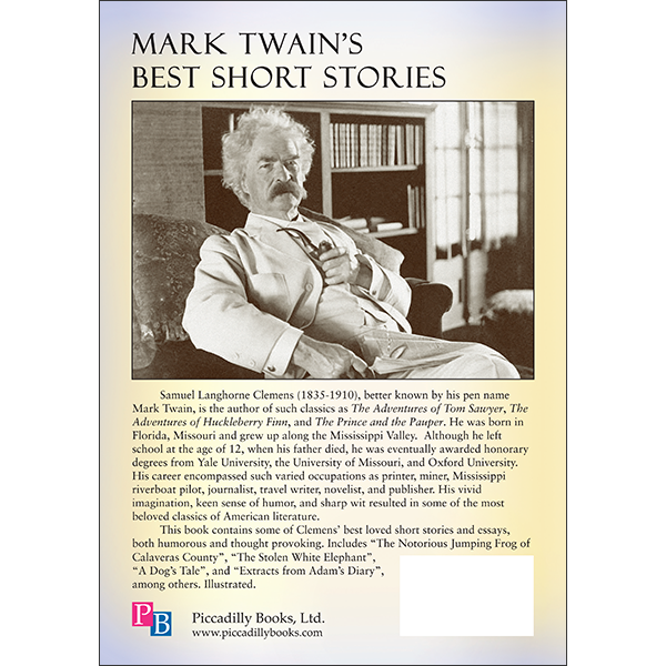 Mark Twains Best Short Stories Back Cover