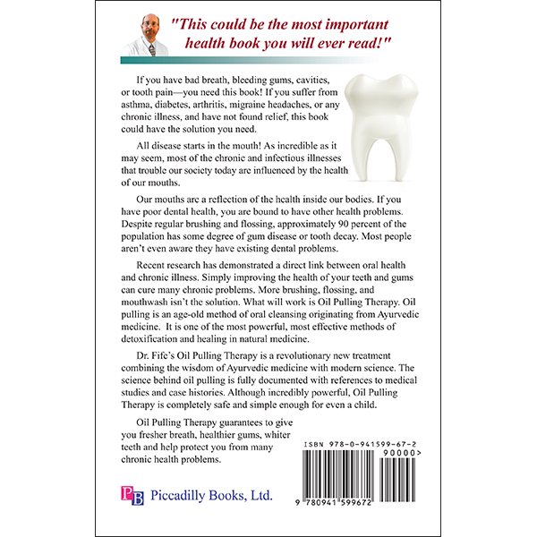 Oil Pulling Therapy Back Cover