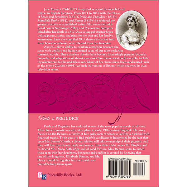 Pride and Prejudice Back Cover