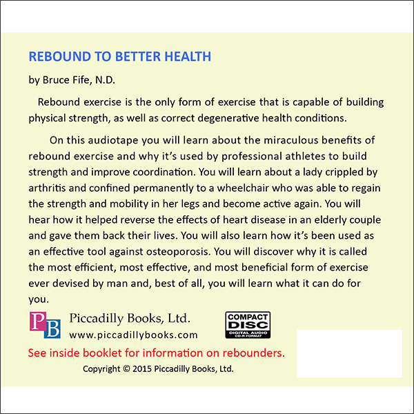 Rebound to Better Health Back Cover