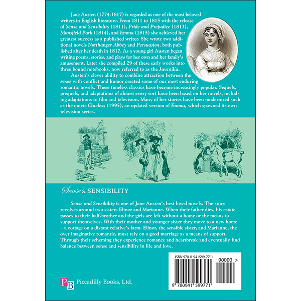 Sense and Sensibility Back Cover