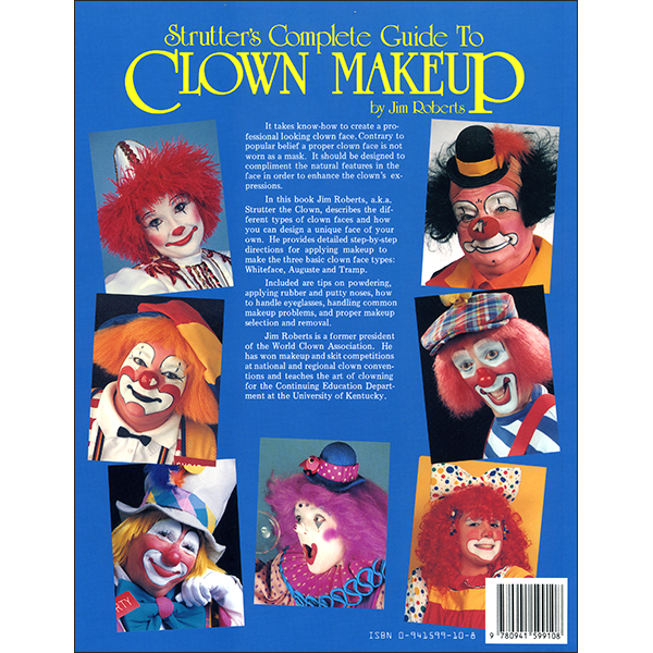 Strutters Guide to Clown Makeup Back Cover