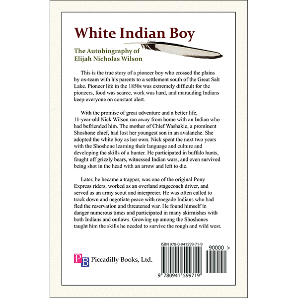 White Indian Boy Back Cover