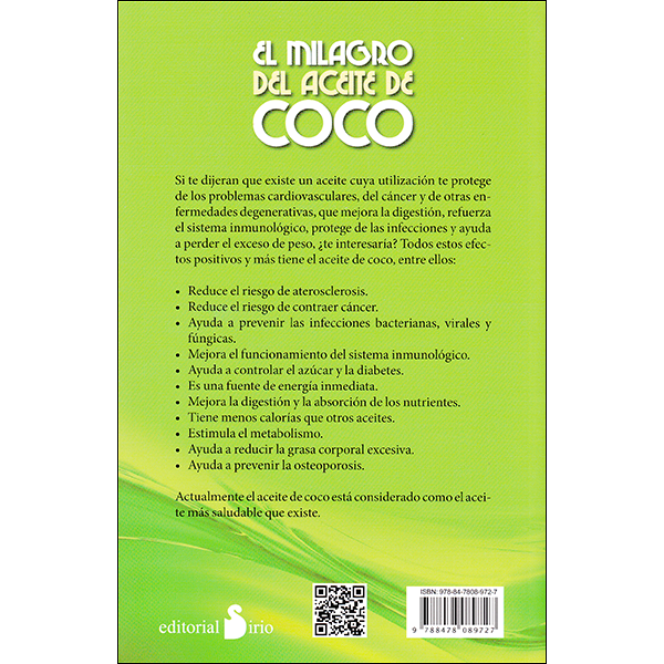 Coconut Oil Miracle Spanish Back