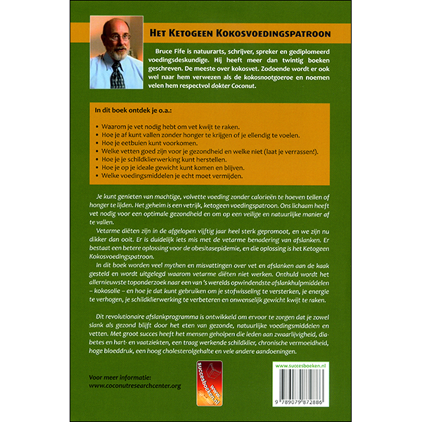 Coconut Ketogenic Diet back cover Dutch