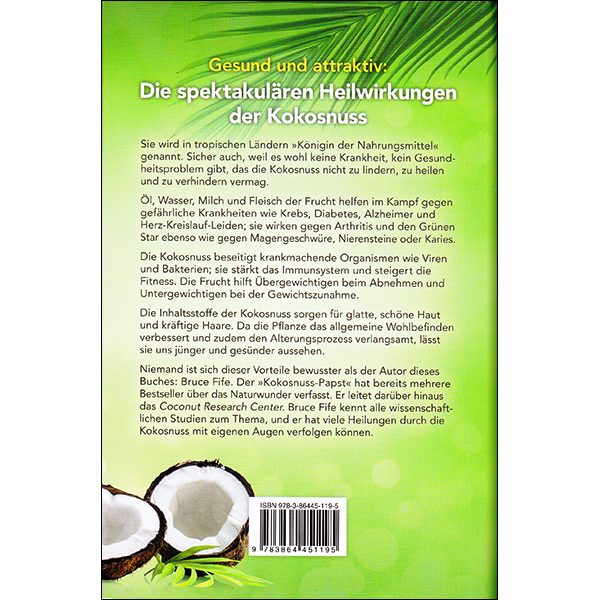 Coconut Cures German back cover