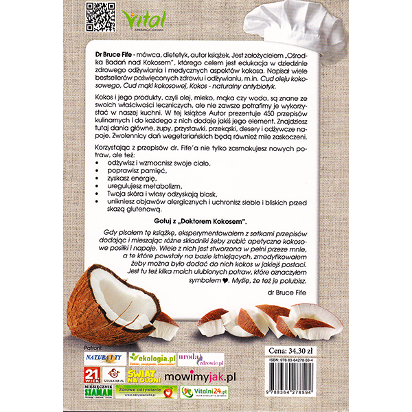 Coconut Lovers Cookbook Polish back cover
