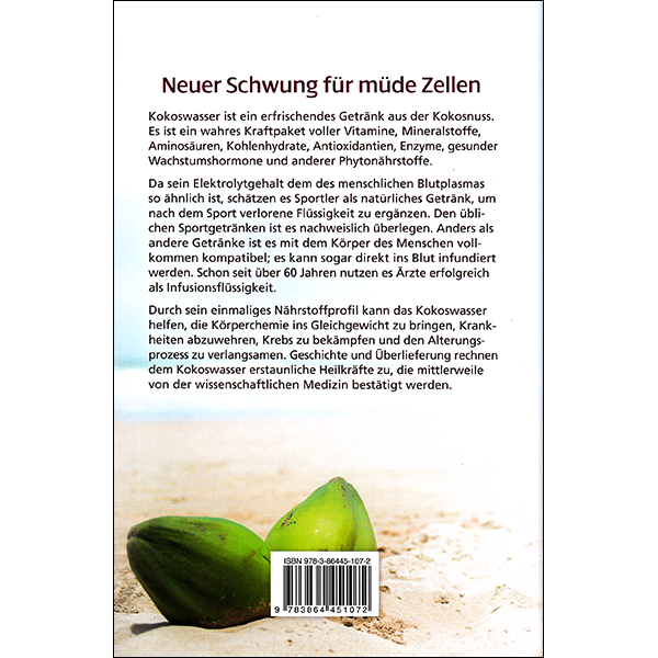 Coconut Water German back cover