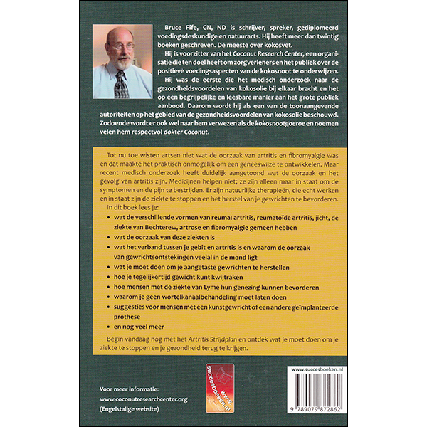 The New Arthritis Cure back cover Dutch