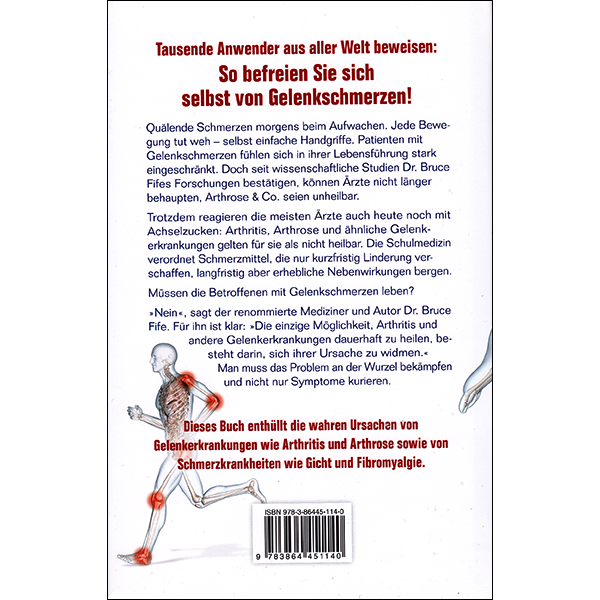 The New Arthritis Cure German back cover