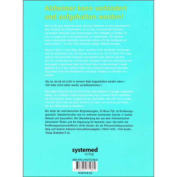 Stop Alzheimer's now German vol 1 back cover