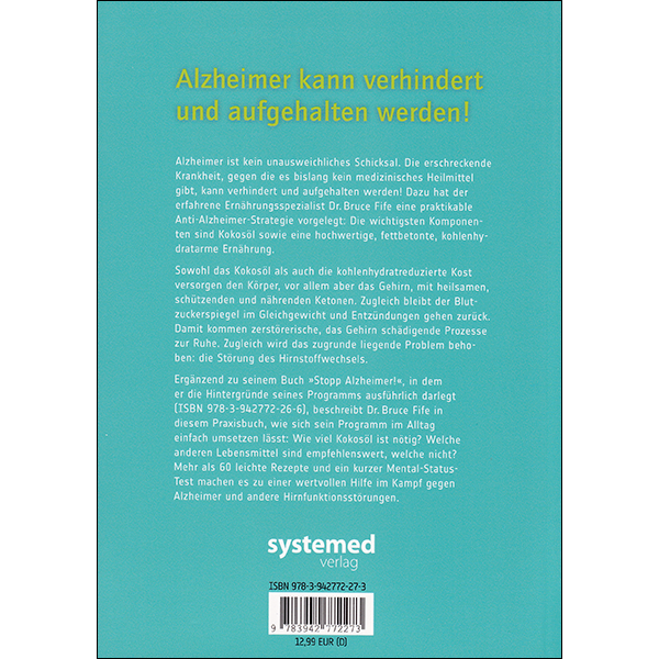Stop Alzheimer's now German vol 2 back cover
