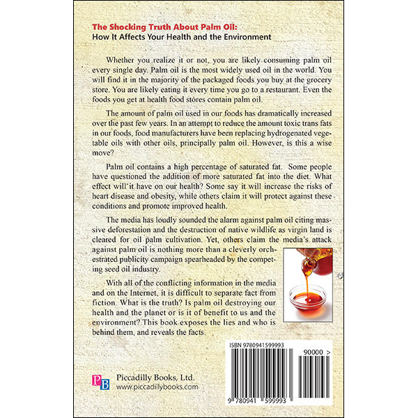 Shocking Truth About Palm Oil Back Cover