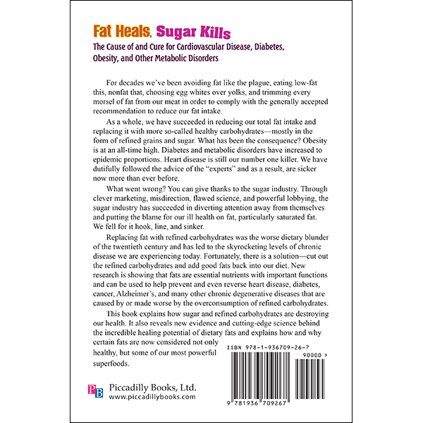 Fat Heals Sugar Kills back cover