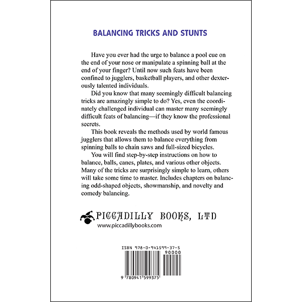 Balancing Trick and Stunts Back Cover